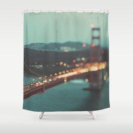 San Francisco Golden Gate Bridge photo, Sweet Light Shower Curtain