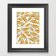 Yellow watermelon pattern art Framed Art Print