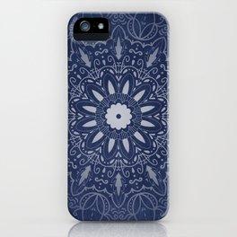 Indigo Mystique Mandala iPhone Case