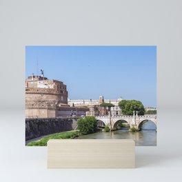 Ponte Sant'Angelo and Castel Sant'Angelo - Rome Mini Art Print