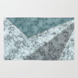 Combined abstract pattern .Green marble . Rug