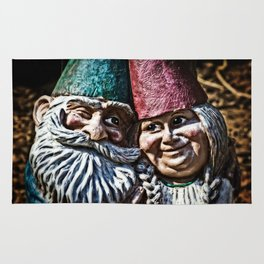 Garden Gnome Couple Rug
