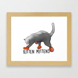 KITTEN MITTENS Framed Art Print