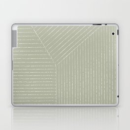 Lines (Linen Sage) Laptop & iPad Skin