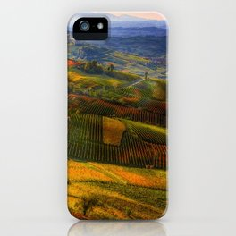 Tuscany, italian wineyards iPhone Case