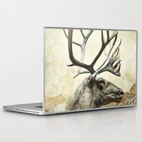 reindeer Laptop & iPad Skins featuring Reindeer by BlueMoonArt