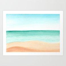 #89. DENNIS (Beach) Art Print