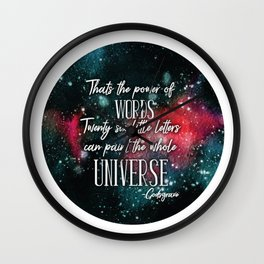 Godsgrave Quote Wall Clock