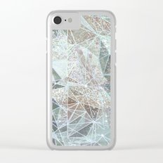 dreamy space structure Clear iPhone Case