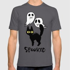 spooked SMALL Asphalt Mens Fitted Tee