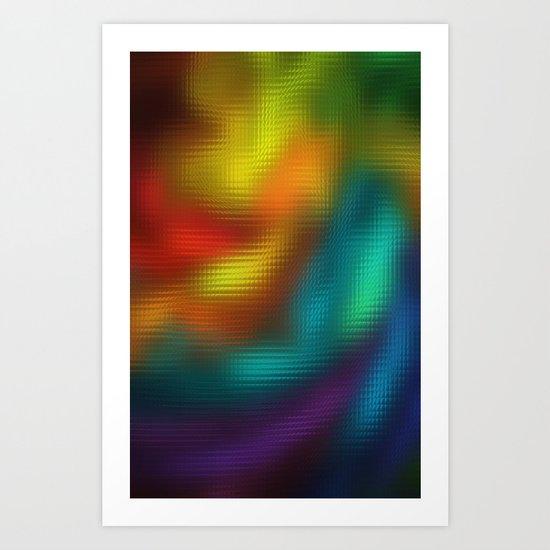 Color Mosaic Art Print