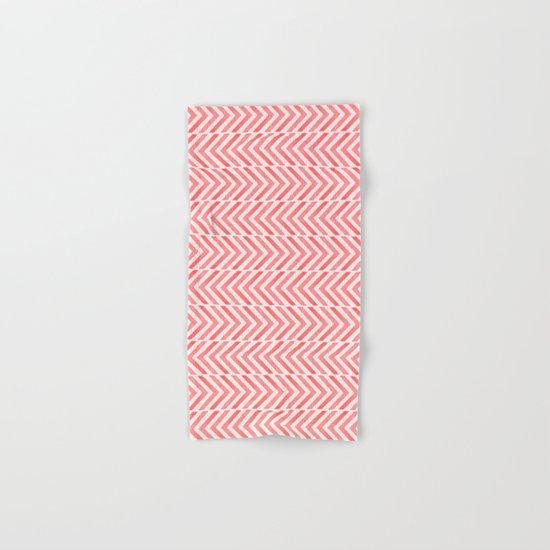 Red Geometric Watercolor Pattern Hand & Bath Towel