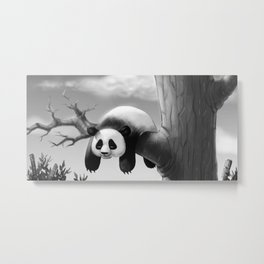 Hang In There, Panda! Metal Print