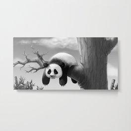 Hang In There, Panda! Metal Print