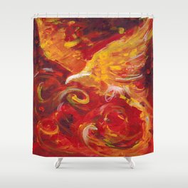Pheonix Bright  Shower Curtain