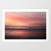 Blushing Sky Art Print