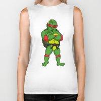 putin Biker Tanks featuring Teenage Putin Ninja Turtle by Chris Piascik