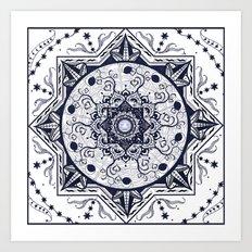 Hearts and Buddha Mandala Art Print