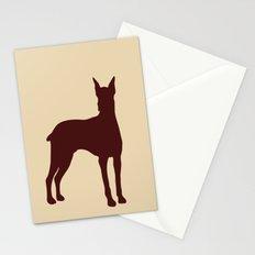 Doberman Dog Silhouette Stationery Cards