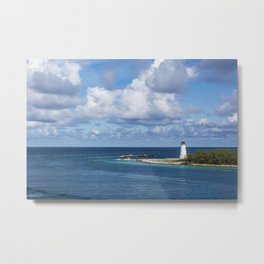 distant lighthouse Metal Print