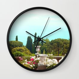sea ​​view from the park Wall Clock
