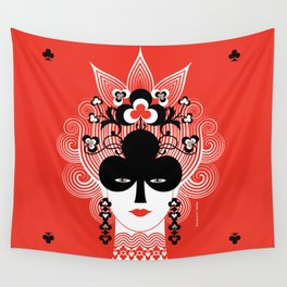 The Queen of clubs Wall Tapestry