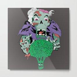 Vegan Zombie Metal Print