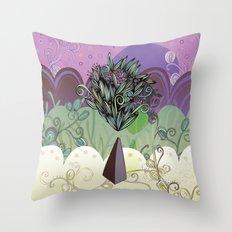 Flower Stone landscape Throw Pillow