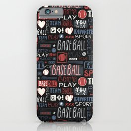 Sport. Baseball pattern. iPhone Case