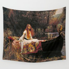 The Lady of Shallot - John William Waterhouse Wall Tapestry