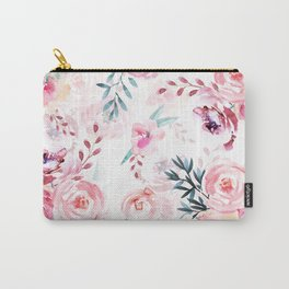 Pink Watercolor Florals I Carry-All Pouch