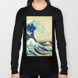 The Great Wave Off Kanagawa Katsushika Hokusai Long Sleeve T-shirt