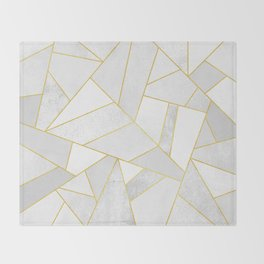 White Stone Throw Blanket
