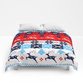 Scandinavian holidays pattern design Comforters