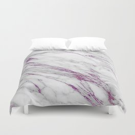 Gray and Ultra Violet Marble Agate Duvet Cover