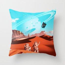 tardis space Throw Pillow
