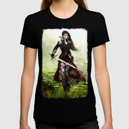 Lady knight - Warrior girl with sword concept art T-shirt