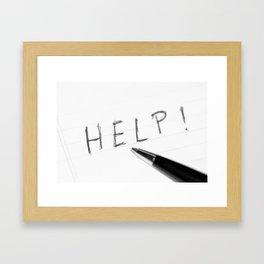Pen Help Black White Framed Art Print