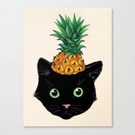 Pineapple Kitty Canvas Print