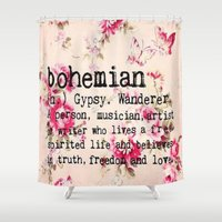 bohemian Shower Curtains featuring Bohemian by Luxe Glam Decor
