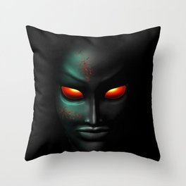 Zombie Ghost Halloween Face Throw Pillow