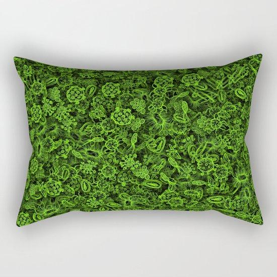 Green micropets Rectangular Pillow