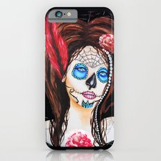 1920's Flapper Sugar skull, Dia de los muertos iPhone 6s Slim Case