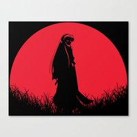inuyasha Canvas Prints featuring Red Moon Inuyasha by Timeless-Id