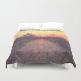 Sunrise on Lake Superior Duvet Cover