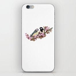 Chickadee Couple on Cherry Branch iPhone Skin