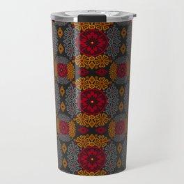 Colorful autumn lace retro ornament Travel Mug