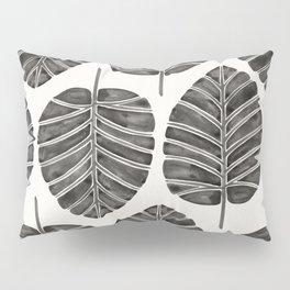 Elephant Ear Alocasia – Black Palette Pillow Sham