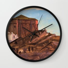 Frederic Edwin Church - Rooftops Near Sant'andrea Delle Fratte From The Pincio, Rome Wall Clock