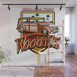 retro woodie car tee Wall Mural